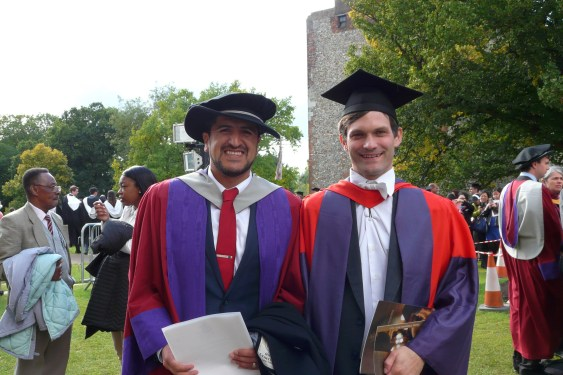 Carlos Contreras and supervisor Phil Lucas