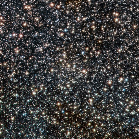 This image from VISTA is a tiny part of the VISTA Variables in the Via Lactea (VVV) survey that is systematically studying the central parts of the Milky Way in infrared light. At the centre of the picture lies the open star cluster VVV CL003. This newly discovered cluster, which appears as just an inconspicuous concentration of faint stars at the centre of the picture, is the first ever found on the other side of the centre of the Milky Way from the Earth.