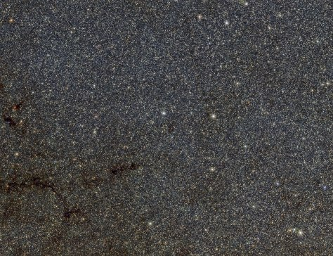 This large star-filled picture is a tiny part of the VVV survey conducted by ESO's VISTA infrared survey telescope. It shows a patch of sky in the direction of the centre of the Milky Way and includes many thousands of stars that form part of the Milky Way bulge. The star catalogues from the VVV survey have been used to map out the shape of the bulge more accurately than ever before.