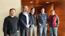 Juan Carlos Beamin and supervisors Julio Chanamé, René Mendez, Dante Minniti and Manuela Zoccali