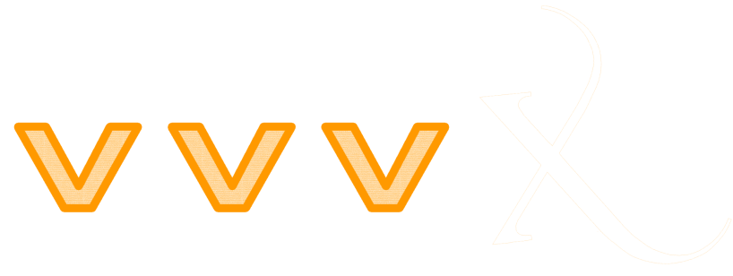 VVV X Logo for orange